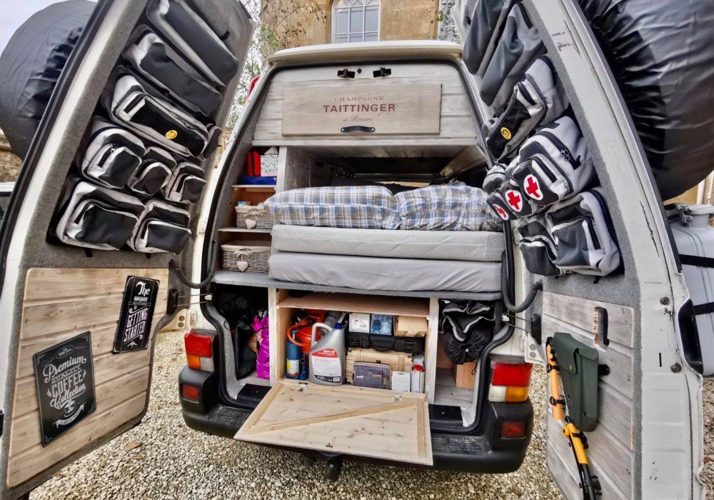 Přestavba VW T4 Syncro a kompletní výbava interiéru i exteriéru