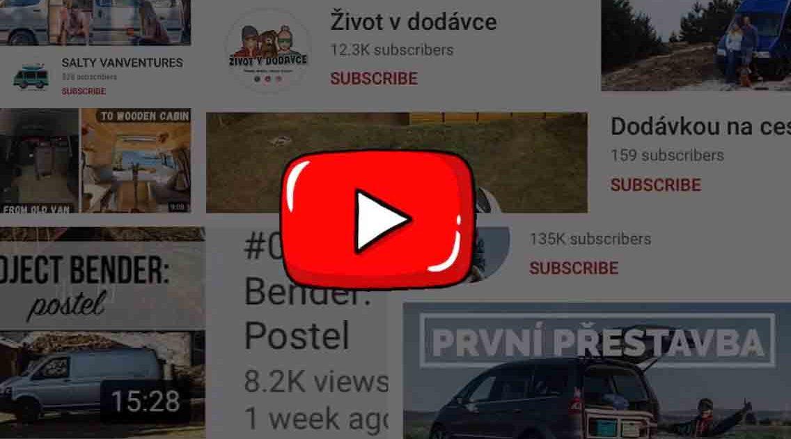 10 + Českých Youtube kanálů a videí plných vanlife inspirace